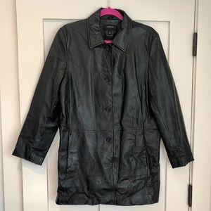 Coleman Black genuine leather coat
